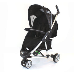 Universal Black Footmuff With Pouches Fit Quinny Zapp Stroller - Baby Travel UK  - 2