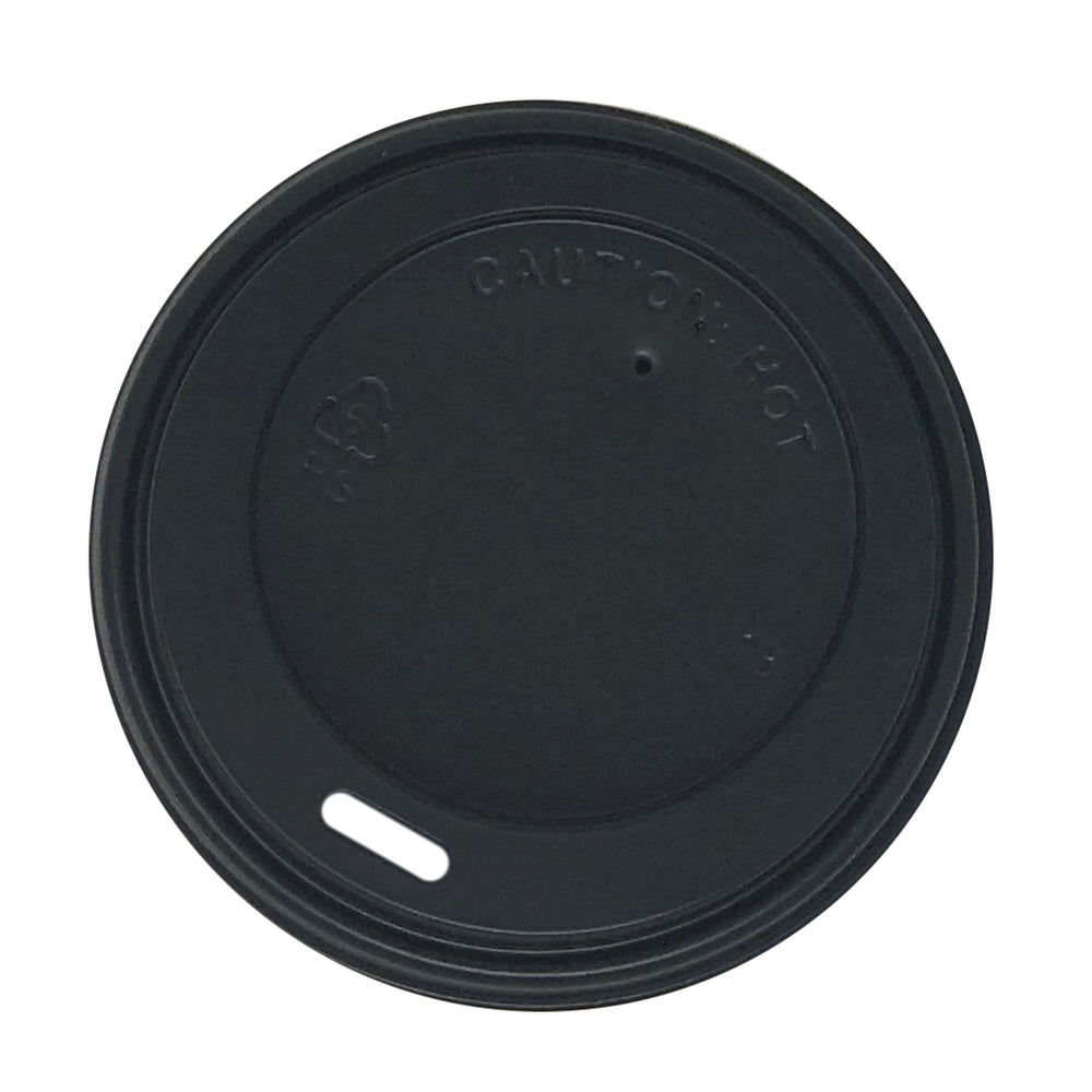 Black Sipper Dome Lids for 8oz Paper Hot Cups