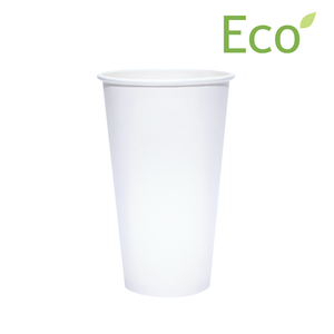 Blank 20oz Eco-Friendly White Paper Hot Cups
