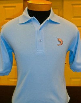 Men's Blend Polo with Shrimp Louis Logo