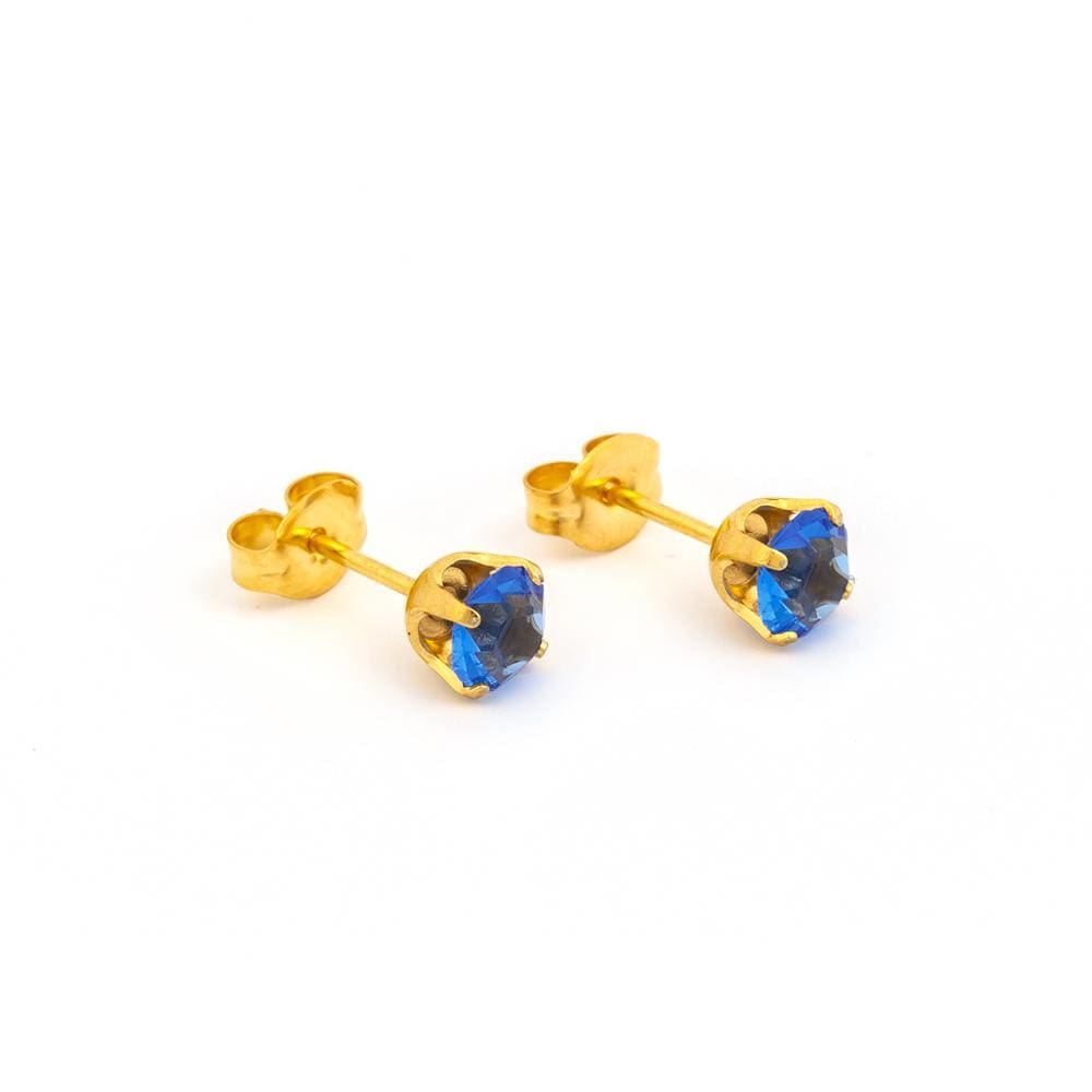 Nickel Free Earrings - Sapphire Sparkle Posts By Nickel Smart® | Nonickel.com