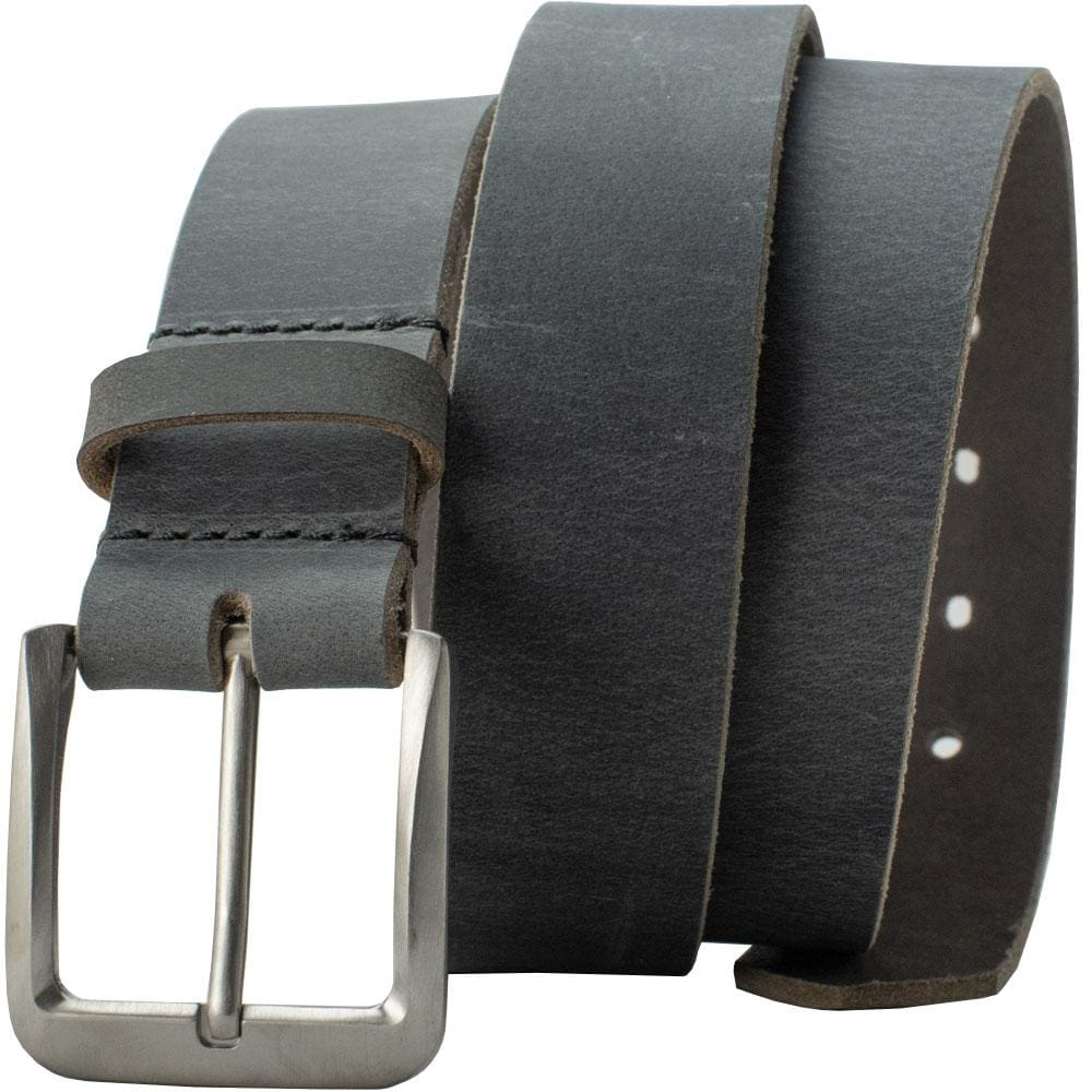 Nickel Free Belt - Smoky Mountain Titanium Distressed Leather Belt By Nickel Smart® | Nonickel.com