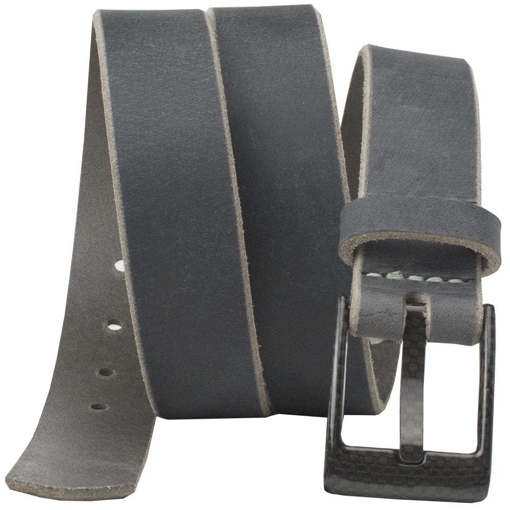 Nickel Free Belt - The Classified Distressed Leather Belt (Gray) By Nickel Smart® | Nonickel.com