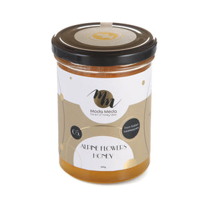Alpine Flowers Honey, Italy - 250-500 G / 8.8-17.63 Oz by ModaMeda 100% Premium Natural