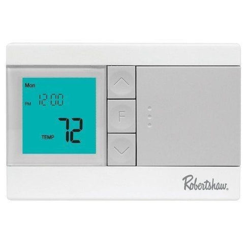 Thermostat, Digital 5-2 Day Programmable, 1 Heat / 1 Cool, Robertshaw RS3110