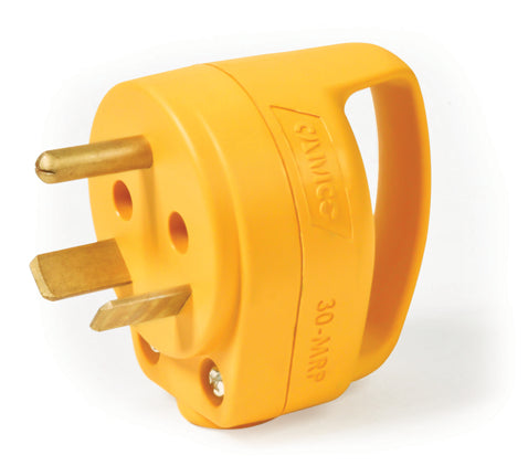 30 Amp Mini Male Cord End with Grip Handle