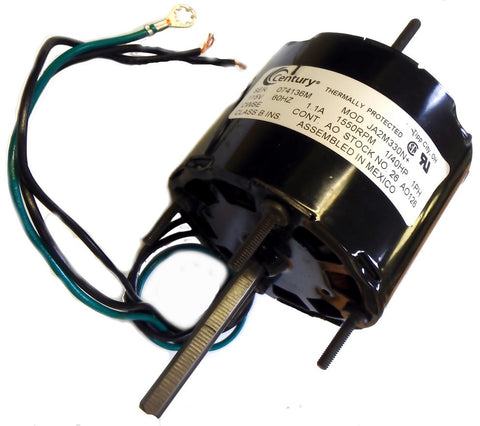 "3.3"" Vent Motor; 1/40 HP, 1550 RPM, CW, OAO"