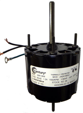 "3.3"" Vent Motor; 1/30 HP, 1550 RPM, CCW, OAO"