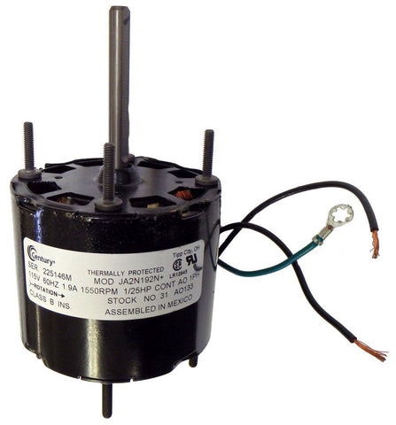 "3.3"" Vent Motor; 1/25 HP, 1550 RPM, CCW, OAO"