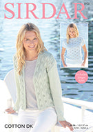 Sirdar Cotton DK Pattern 8121 - Jacket and Top