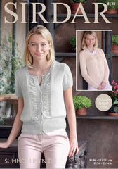 Sirdar Summer Linen DK Pattern 8138 - Long & Short Sleeved Summer Cardigans