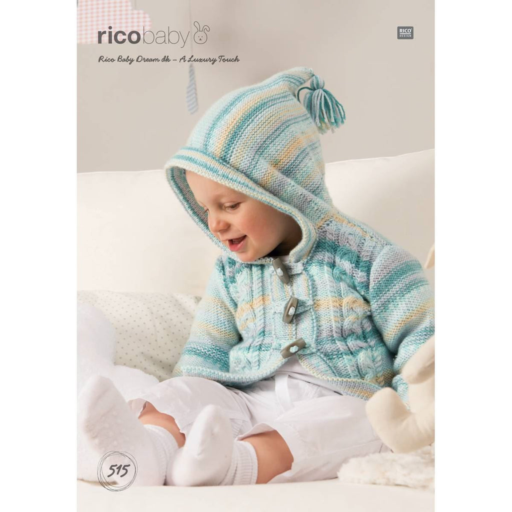 Rico Baby Dream DK - A Luxury Touch Pattern 515 - Cabled Jackets
