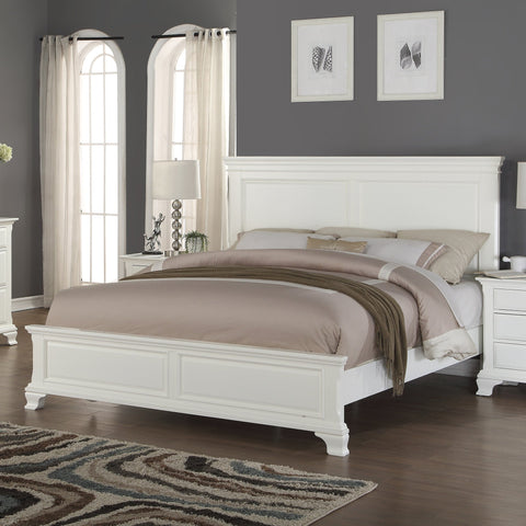 Laveno 012 White Wood Queen Bed