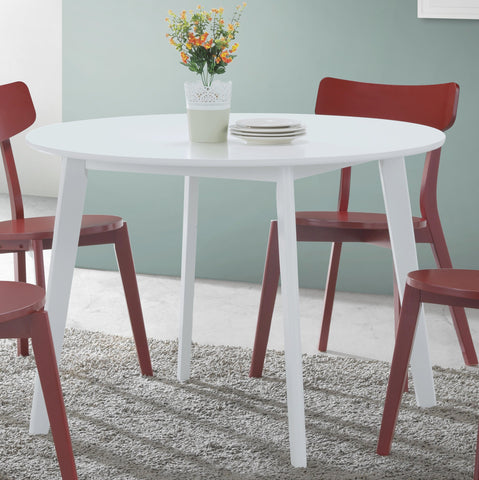 Roma Contemporary White Round Dining Table