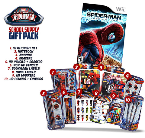 Spider-man - The Edge of Time (Includes Spider-Man School Supply Gift Pack) (NINTENDO WII) NINTENDO WII Game