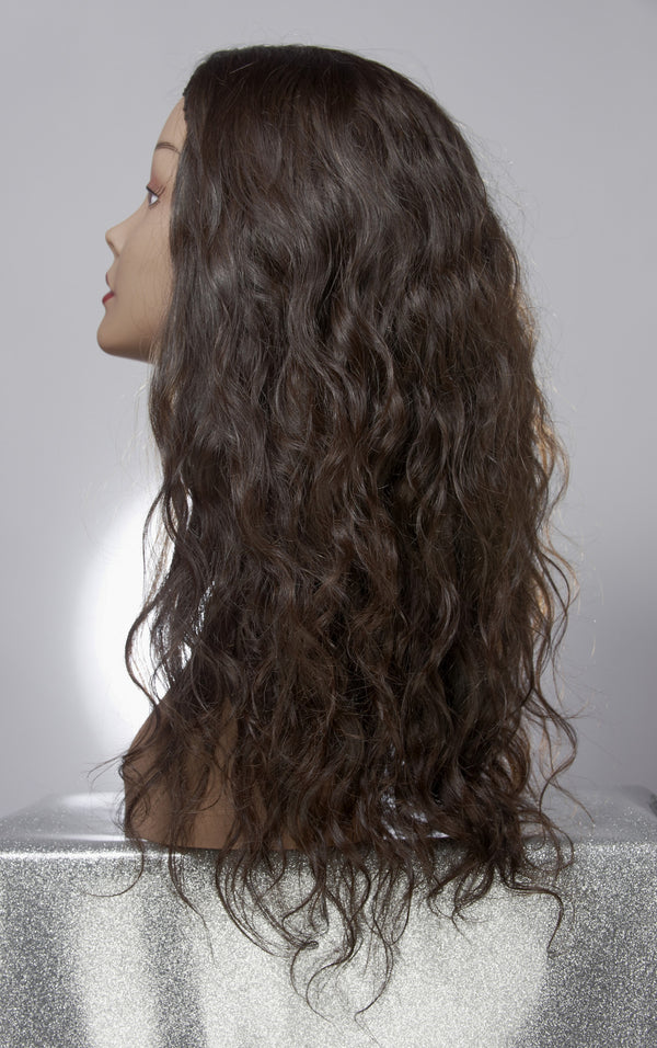 Virgin Indian Hair Extensions on a Model
