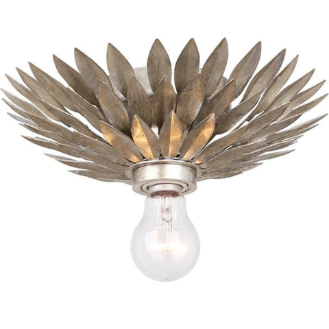Crystorama 1 Light Broche Ceiling Mount in Antique Silver 500-SA_CEILING