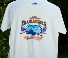 Blue Angels 2 Flag Youth Tee Shirt