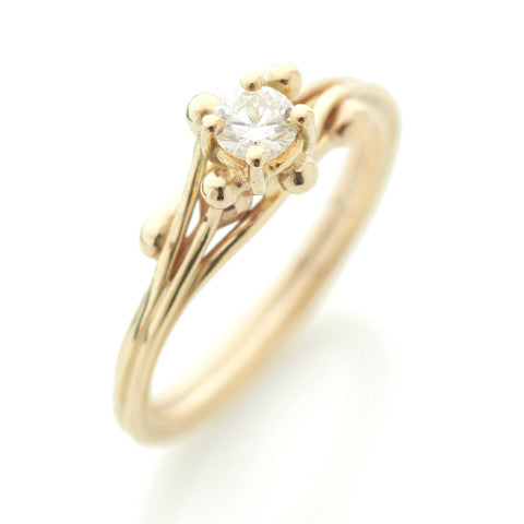 18ct Yellow Gold Solitaire Diamond Ring