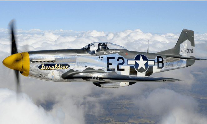 P-51 Mustang Fighter Plane was Used extensively in World War II