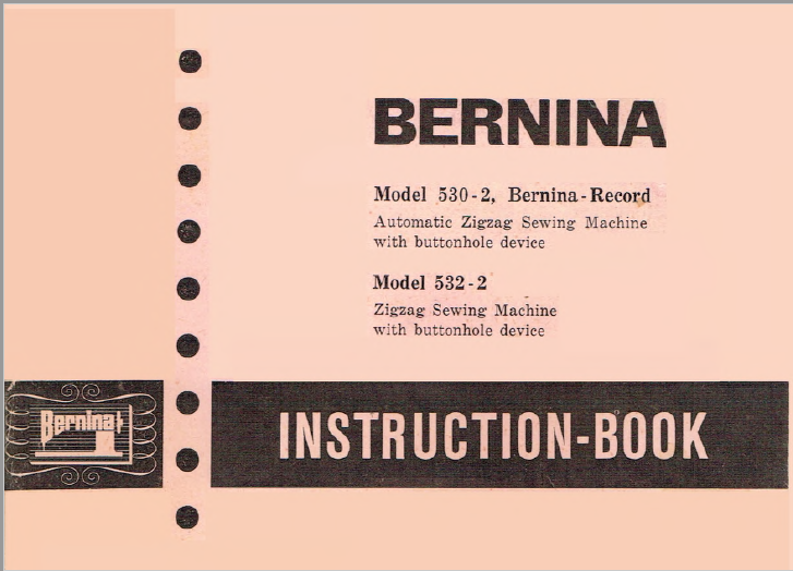 Instruction Book Bernina 530, 532