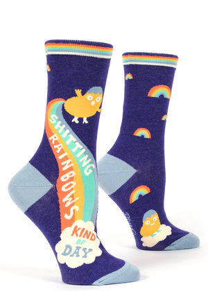 These crew socks are rainbow-shittingly adorable.