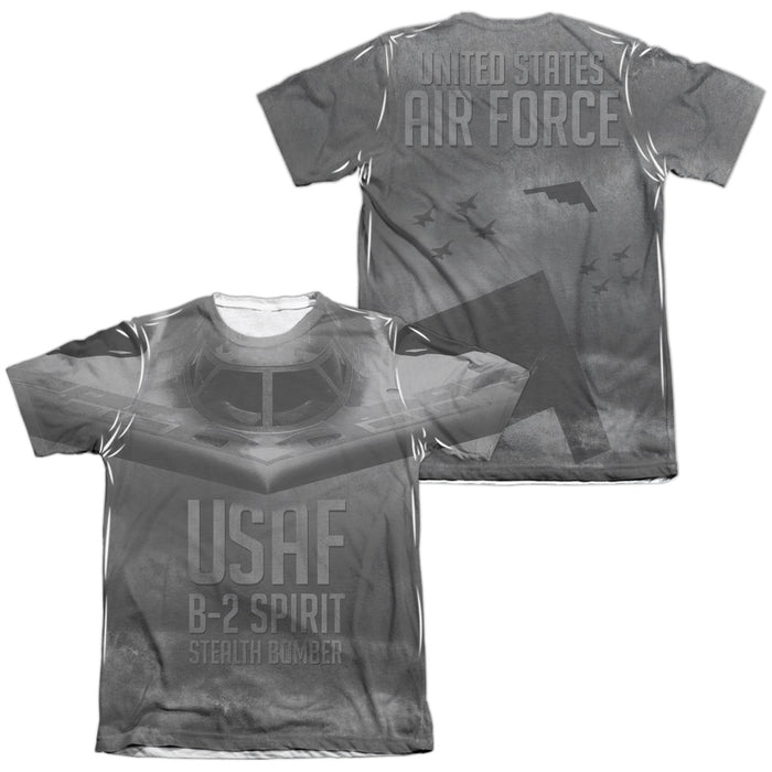 AIR FORCE/STEALTH (FRONT/BACK PRINT)-ADULT POLY/COTTON S/S TEE-WHITE