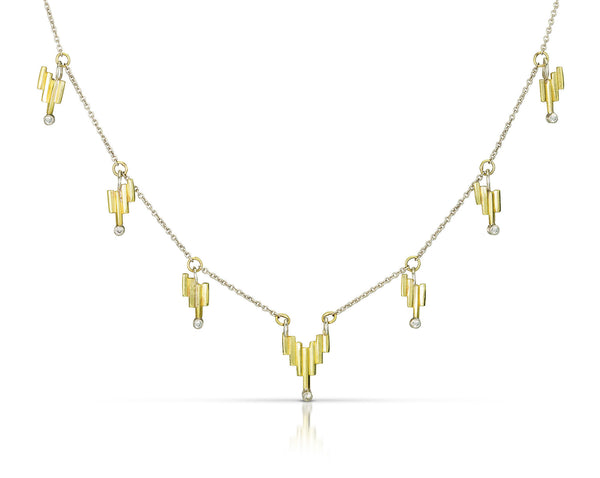 Light Fringe Necklace