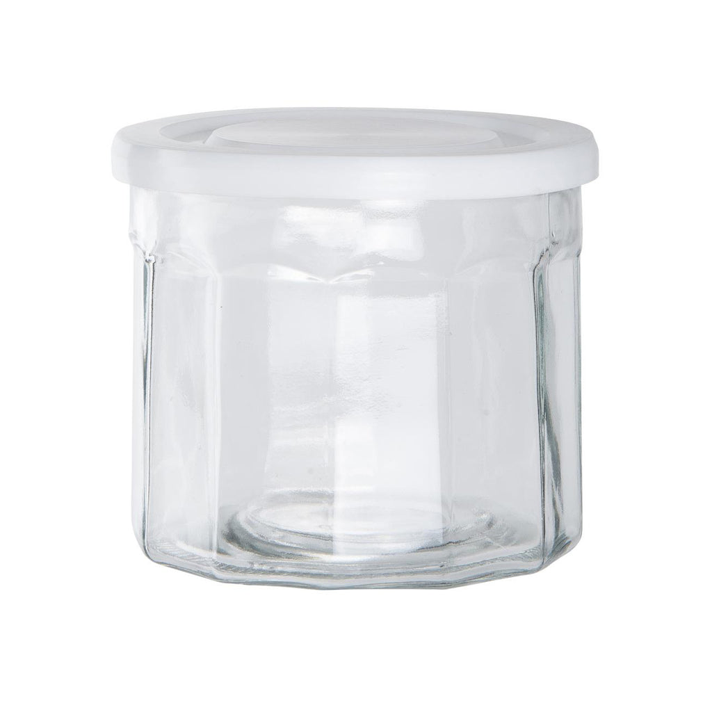 840ml Glass Storage Jar With Plastic Lid
