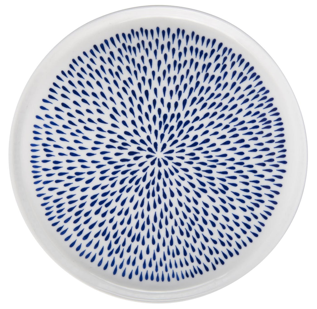 Blue Dashes Plate