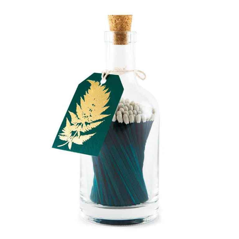 Bottle of Fern Green and White Luxury Matches