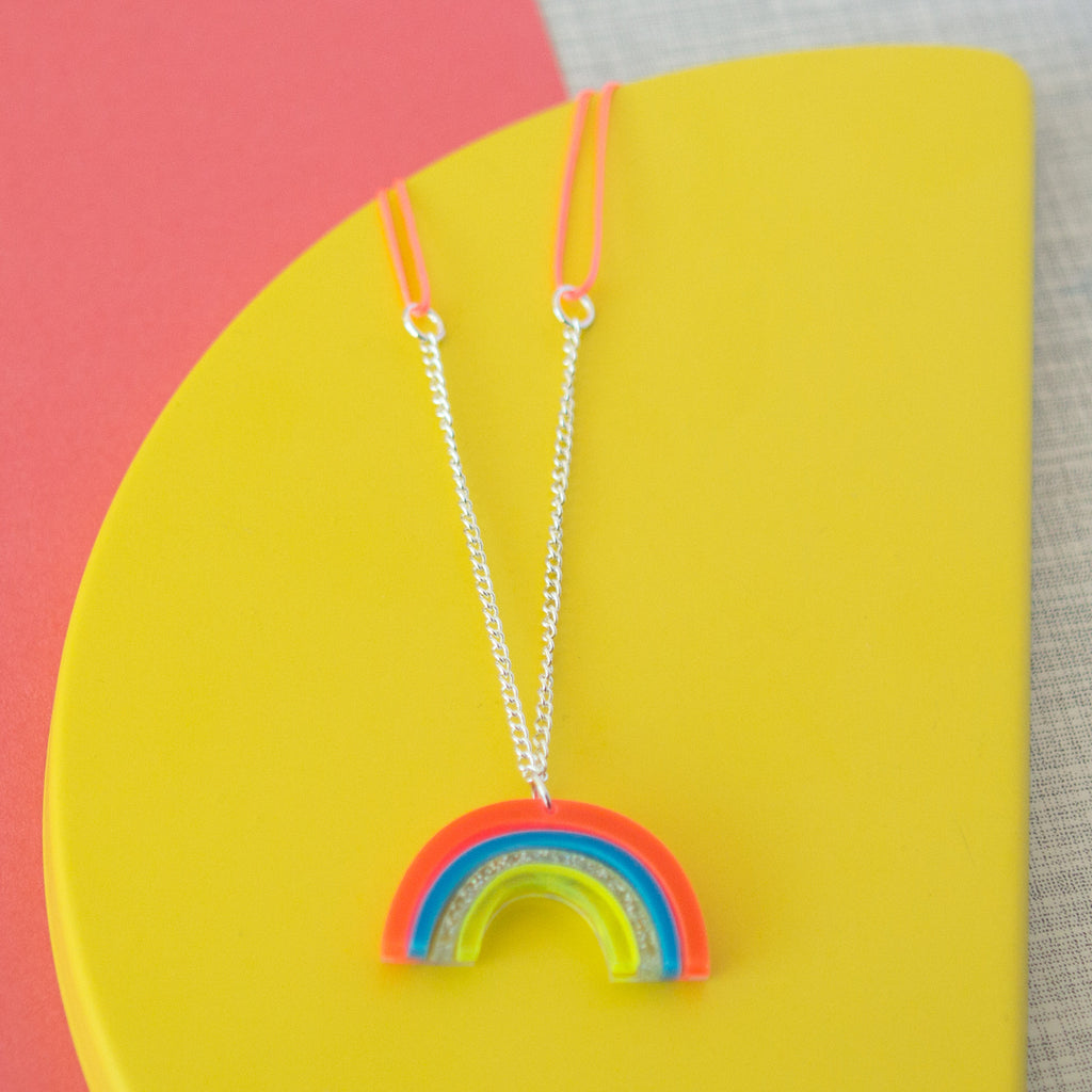 Acrylic Rainbow Sweet Thing Necklace