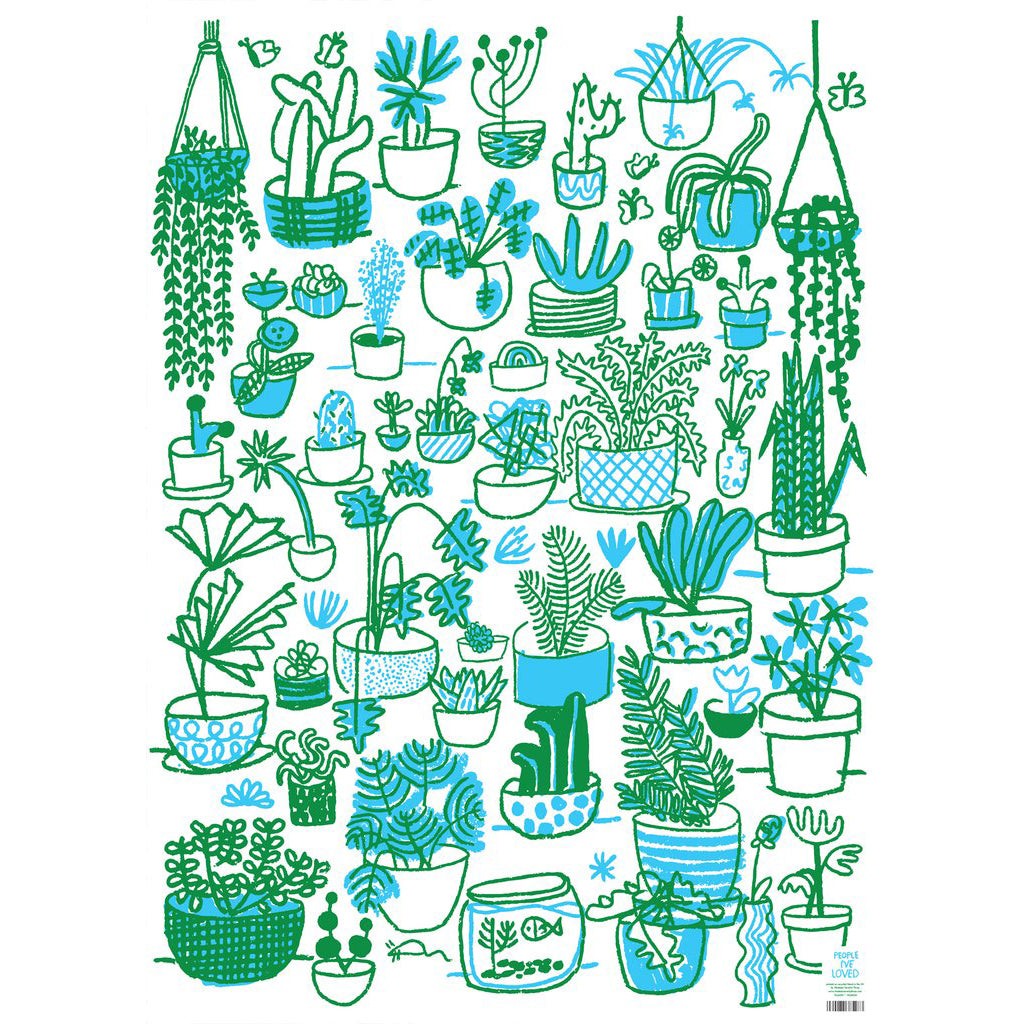 Plants Wrapping Paper Sheet
