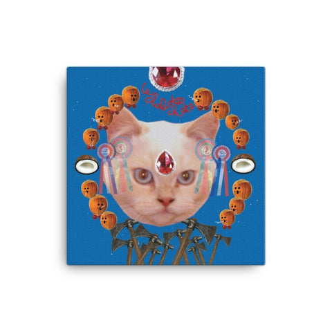 Le Club des Chats Wat, Wat, Wat Canvas Wall Art