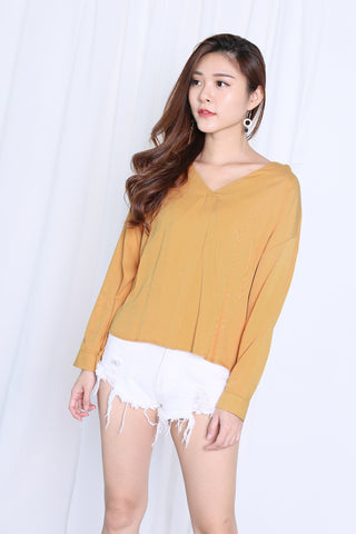 GLYNN LOOSE FIT TOP IN MUSTARD