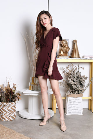 *TPZ* (PREMIUM) DAWN WRAP DRESS IN PLUM