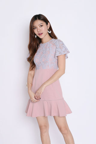 *TPZ* (PREMIUM) ULYSSA LACE DRESS IN PINK/BLUE