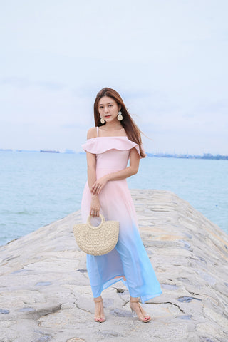*TPZ* (PREMIUM) ON CLOUD NINE OMBRE MAXI (DUSTY PINK)