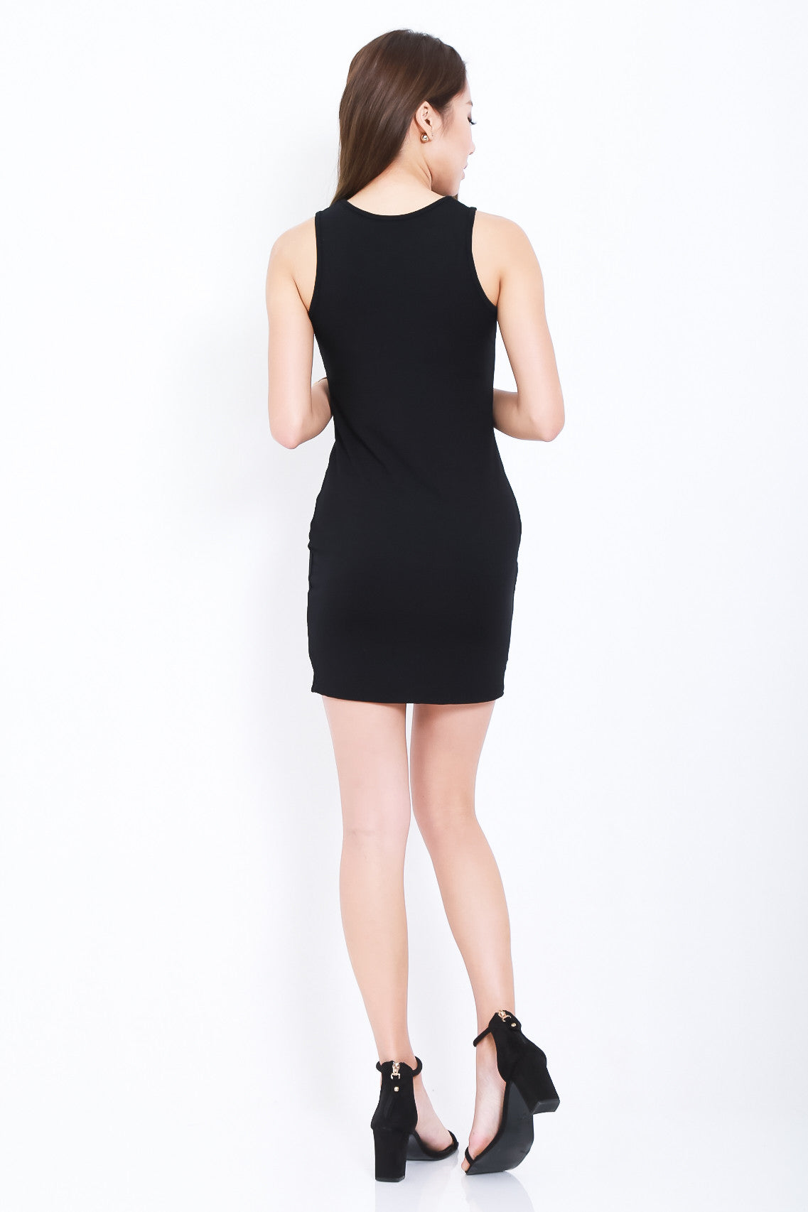 *RESTOCKED* TANKFUL FOR YOU DRESS IN BLACK - TOPAZETTE