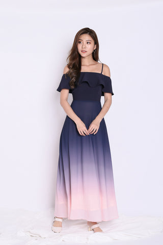 *TPZ* (PREMIUM) ON CLOUD NINE OMBRE MAXI (NAVY/ PINK)
