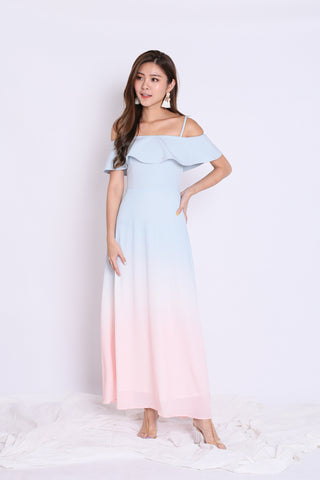 *TPZ* (PREMIUM) ON CLOUD NINE OMBRE MAXI (DUSTY BLUE)