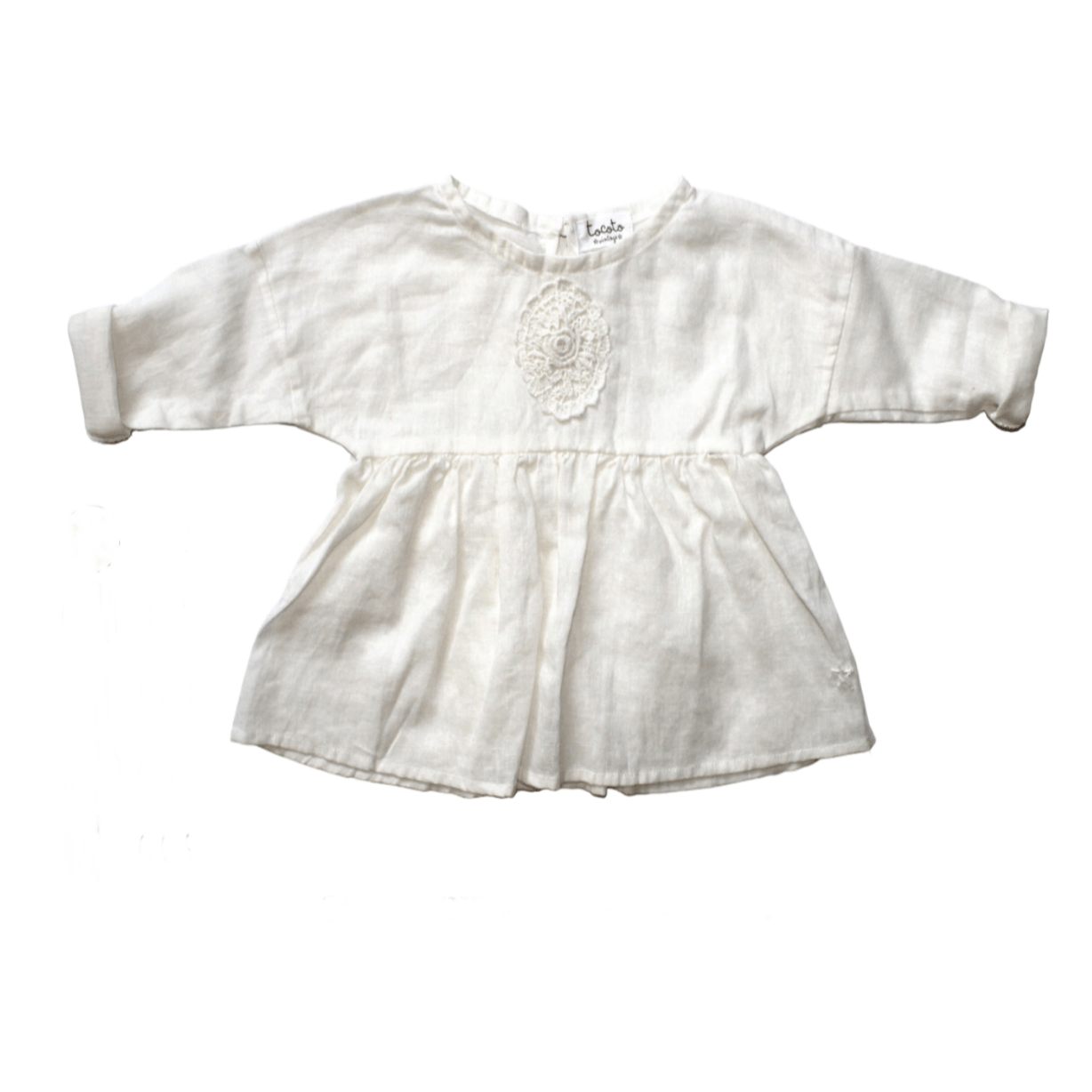 Tocoto Vintage Embroidery Chest Blouse - Tiny People Cool Kids Clothes Byron Bay