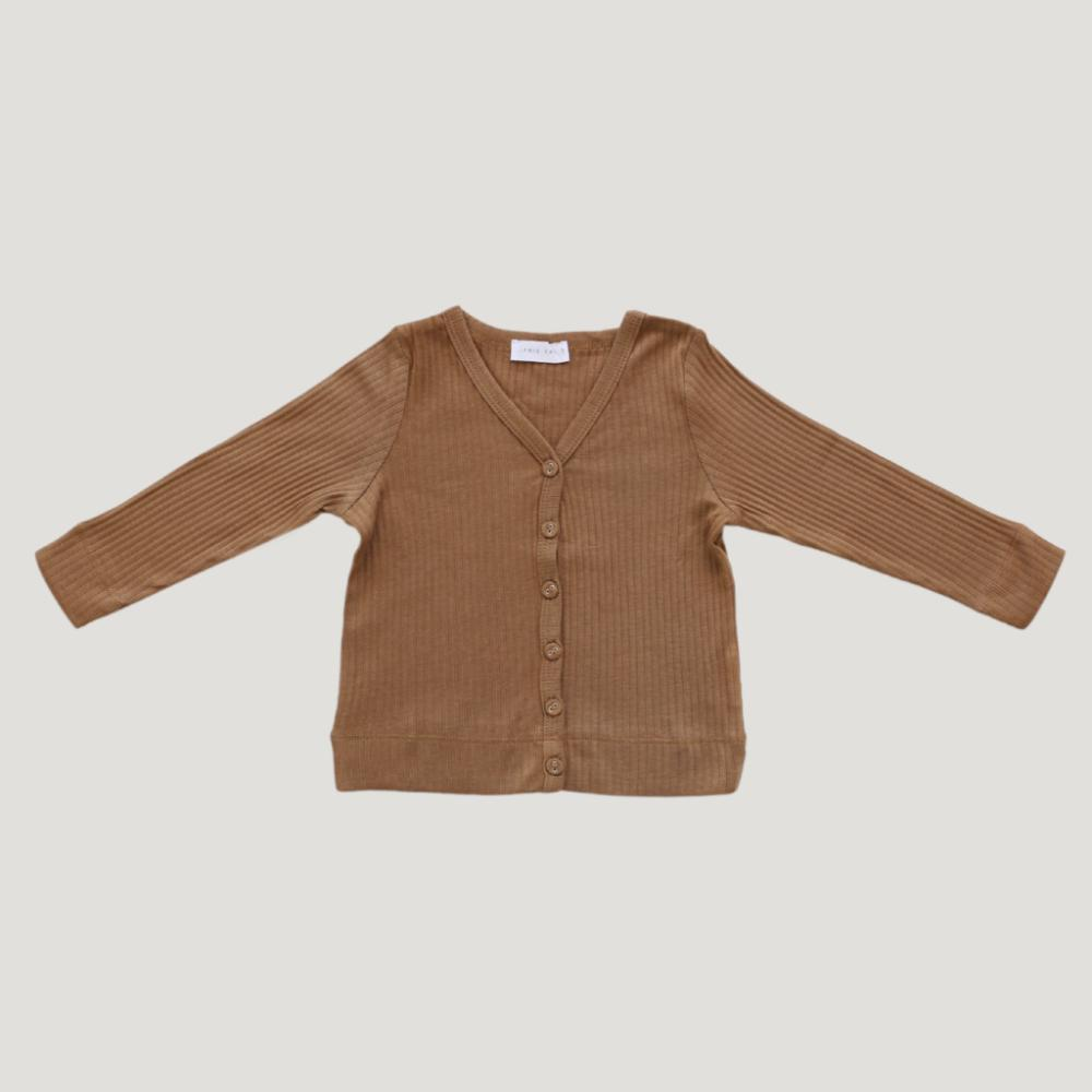 Jamie Kay Cotton Modal Cardi - Bronze - Tiny People Cool Kids Clothes Byron Bay
