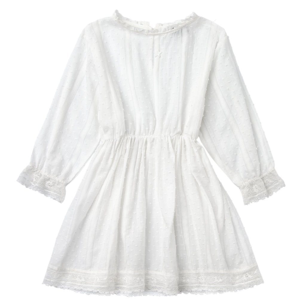 Plumeti Lace Dress Off-White