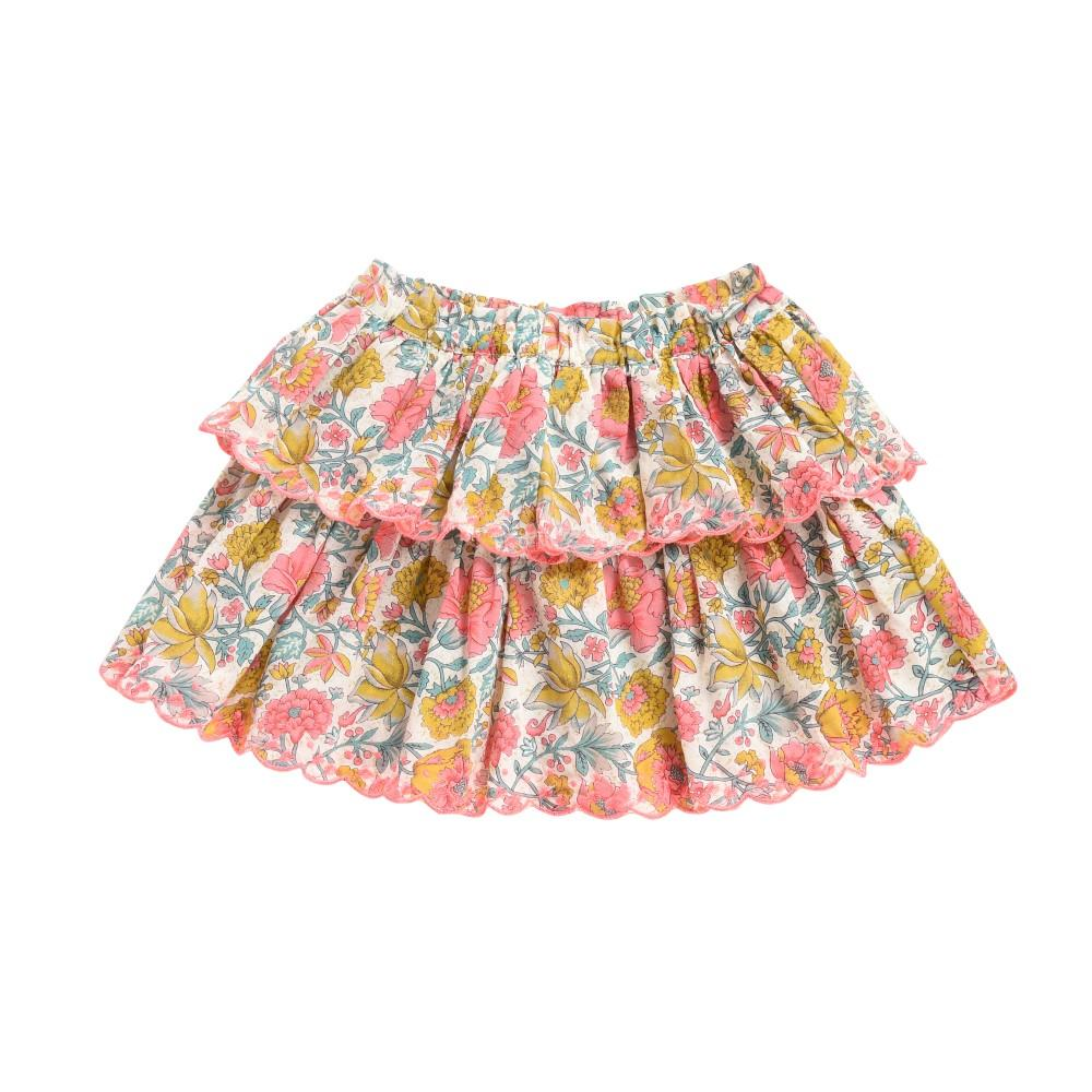 Litchi Skirt Multi Flowers