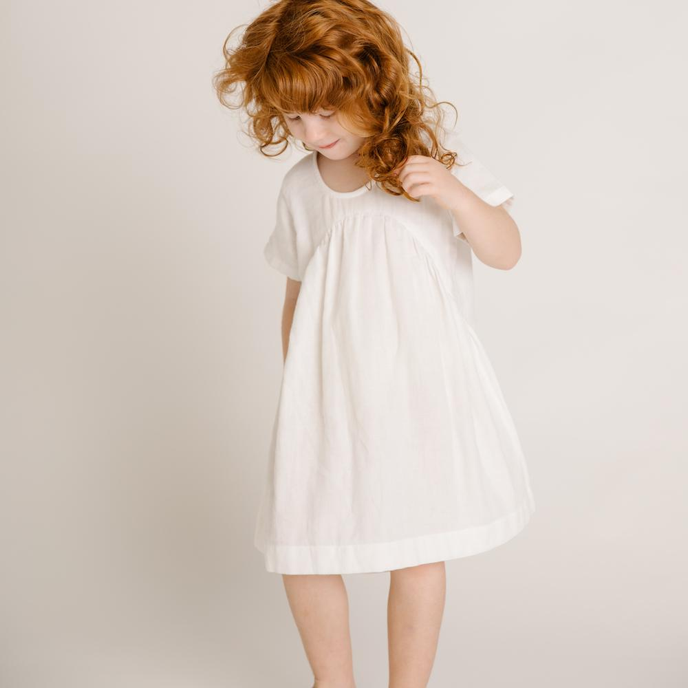 Clover Toddlers Dress Ivory