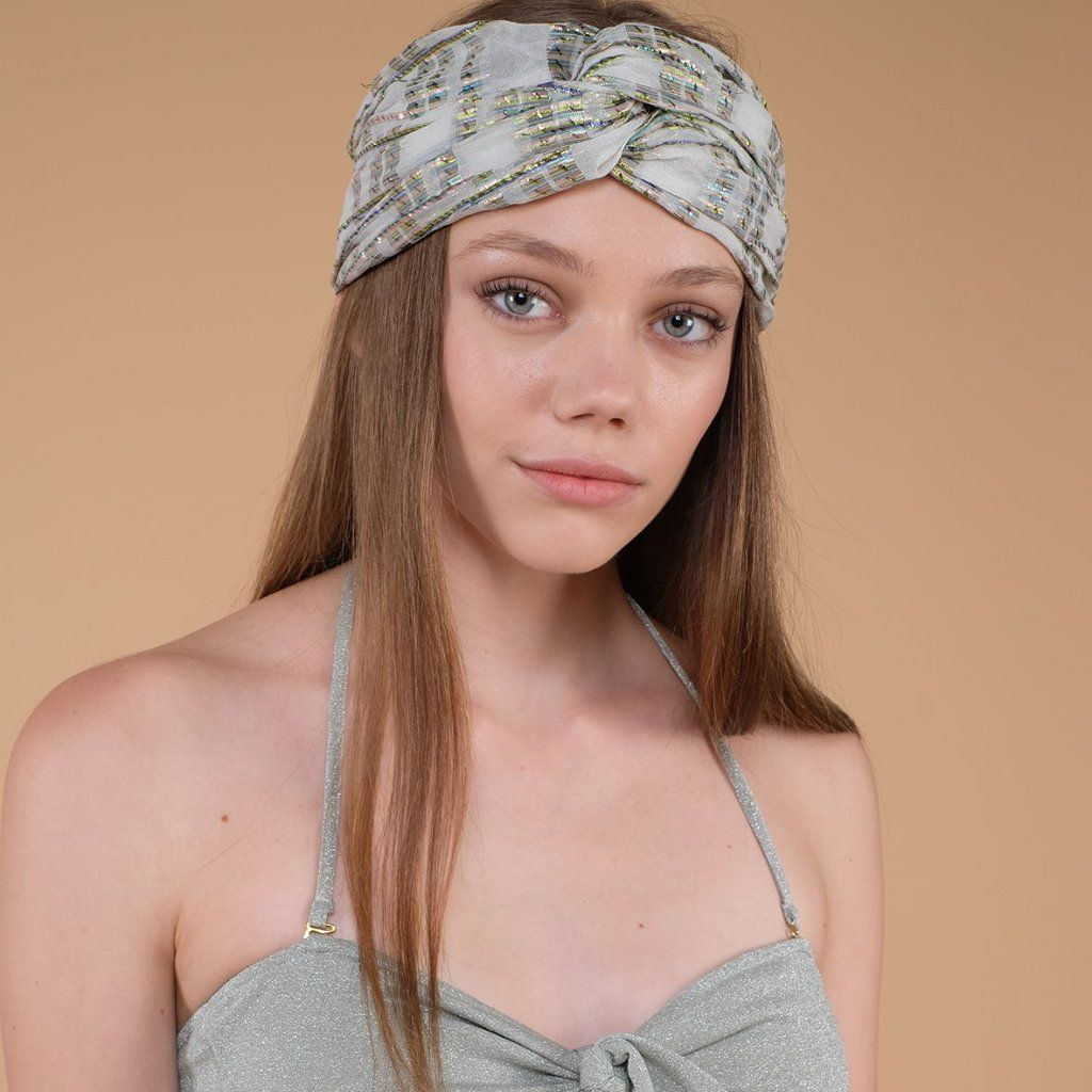 Women's Eden Headband White Rainbow