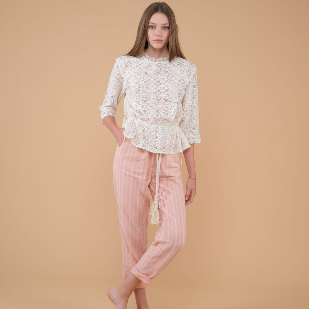 Women's Cana Pants Blush Stripes