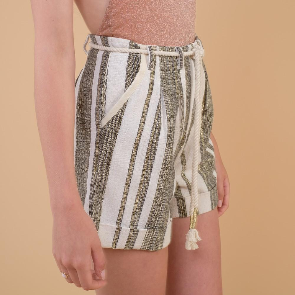 Women's Dero Shorts Cream Stripes