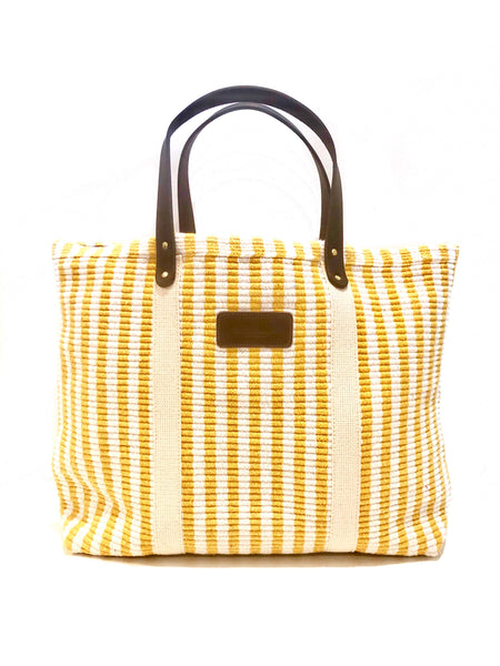 Hatteras - ECO Friendly Woven Cotton Tote - Canary